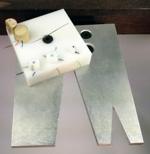 Jig on Aluminum Bench Pin
