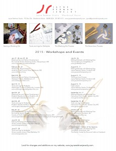 Updated Workshops and Events 2015